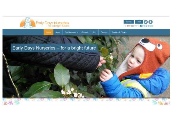 Web design for Edinburgh Nursery School Group