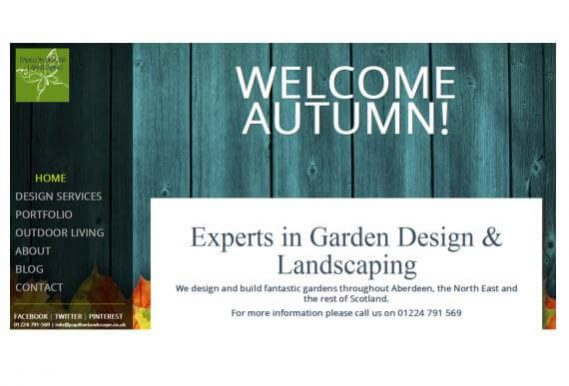 New Website for Papillon Garden Landscaping in Aberdeen