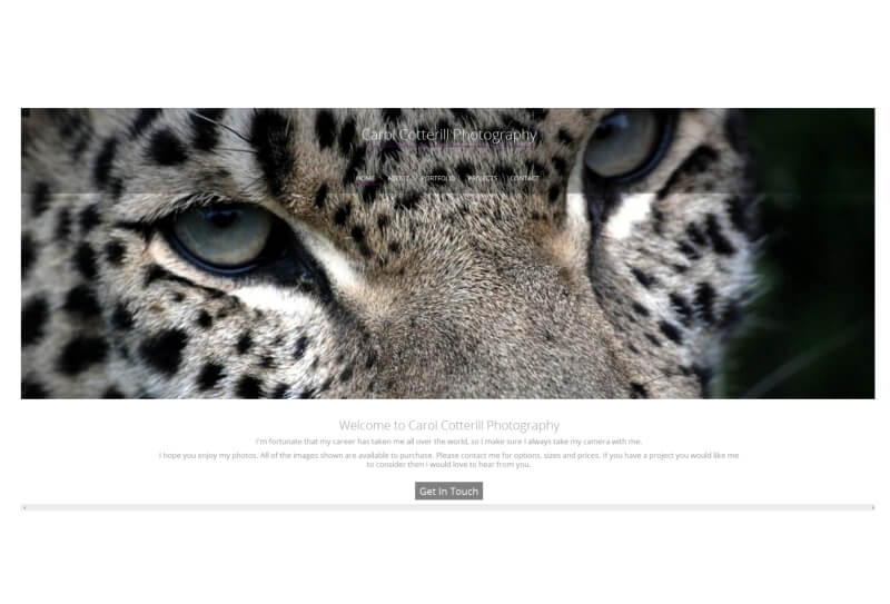 Bespoke website for professional photographer in Scotland, UK