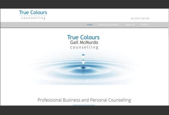 West Lothian business counselling wanted a bespoke web design