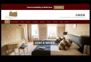 Bespoke web design for Melrose hotel in the Scottish Borders