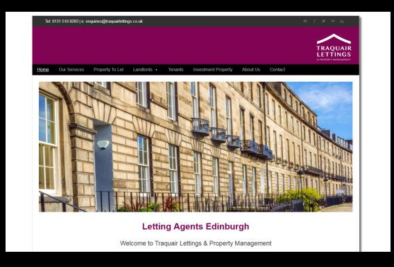 Web design for Edinburgh Rental Agency