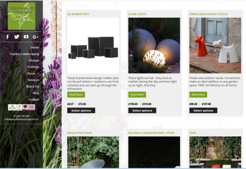 Web design for Papillon Landscaping - Aberdeen